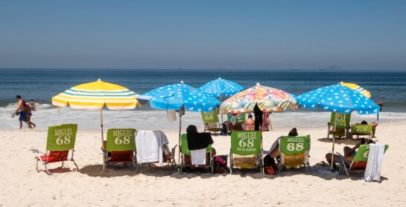 Sun, sand and water – relaxation time at Copacabana Beach, Rio de Janeiro, Brazil