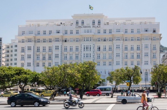 The Copacabana Palace (Hotel) is the highest rated hotel in Rio de Janeiro, Brazil; we had an excellent lunch in their casual restaurant, Pergola, by the swimming pool