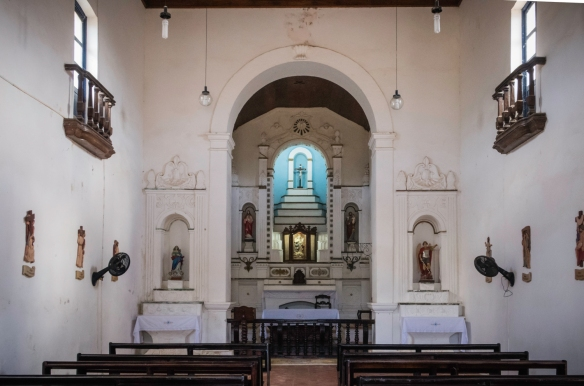 The interior of the old church, Vila dos Remédios, Fernando de Noronha, Brazil