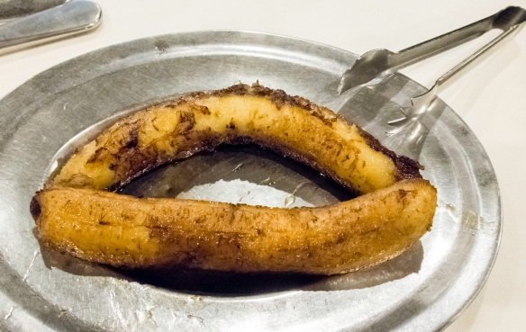 We saved the sautéed bananas for desert, Oasis restaurant, São Conrado, Brazil