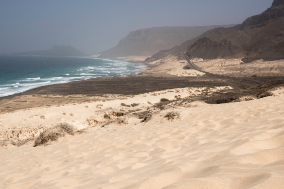 A close-up of the dunes along the coast, São Vicente, Cape Verde (Cabo Verde)