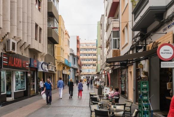 A pedestrian street in downtown Las Palmas de Gran Canaria, Canary Islands