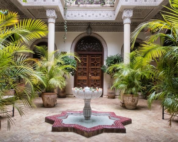 A second patio-courtyard, Villa des Orangers, Marrakech, Morocco