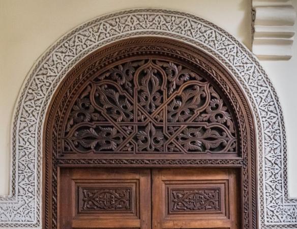 Architectural details, Villa des Orangers, Marrakech, Morocco