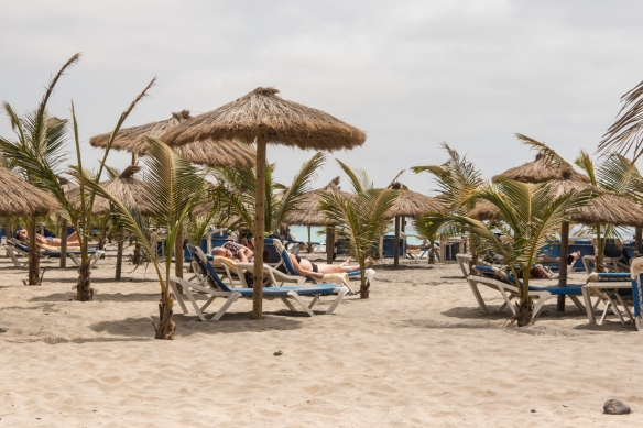 Beach lounging by the Karamboa Hotel (pictured above), Boa Vista, Cape Verde
