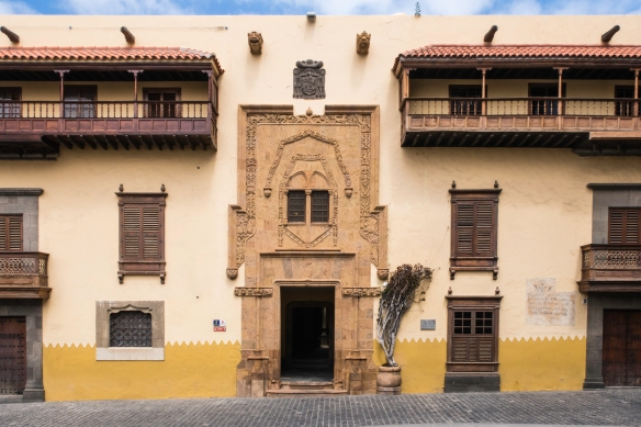 Casa de Colon, the Columbus museum in Vegueta, the old town district of Las Palmas de Gran Canaria, Canary Islands; note that Columbus stopped for outfitting his ships here on each of hi
