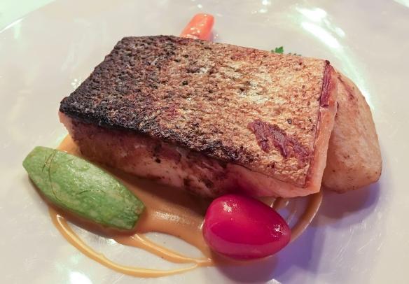 Grilled Atlantic Salmon as an entree, Ô Soleil, Las Palmas de Gran Canaria, Canary Islands