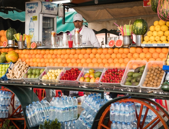 Orange juice sellers are in Jemaa el-Fnaa square all day and evening, whereas the portable restaurants set up for dinner are constructed DAILY in the late afternoon and removed each nigh