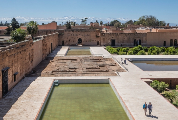 """Palais Badii (El Badii Palace) – """"the incomparable palace"""" -- Marrakech, Morocco, is a ruined palace that was commissioned by the sultan Ahmad al-Mansur of the Saadian dynasty some"""