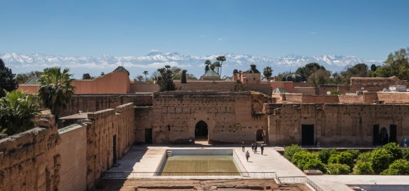 Palais Badii (El Badii Palace), Marrakech, Morocco, #2; note the High Atlas Mountains, to the south, visible in the background