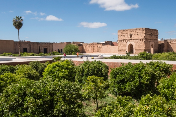 Palais Badii (El Badii Palace), Marrakech, Morocco, #3; the orange trees were full of fruit
