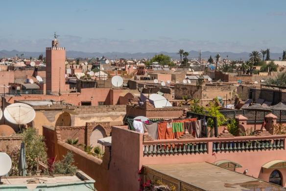 Palais Badii (El Badii Palace), Marrakech, Morocco, #8 -- a view of the city from the top of the palace