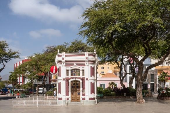 Praça Nova is the main city square of Mindelo, São Vicente, Cape Verde (Cabo Verde), Cape Verde_s liveliest city and unofficial cultural capital