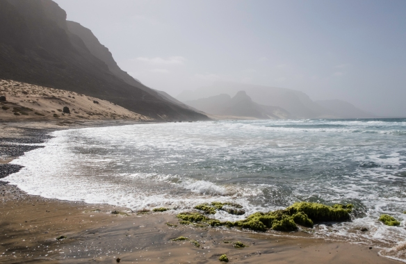 São Vicente, Cape Verde (Cabo Verde), is of volcanic origin and is fairly arid, with a number of mountains across the island, some of which are adjacent to the ocean shore