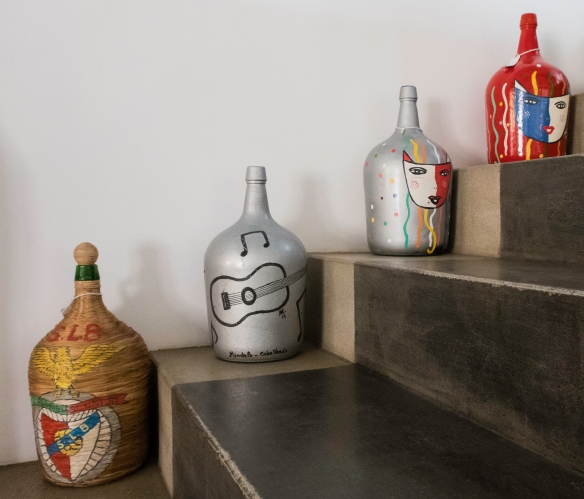The Cap Vert Design store is popular hangout for young designers and artisans -- the shop sells traditional jewelry, handmade baskets, ceramics, and locally made clothing; Mindelo, São