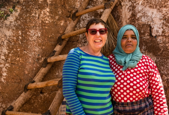 The intrepid explorer and our hostess at her home in the Berber village, Asni, High Atlas Mountains, Morocco