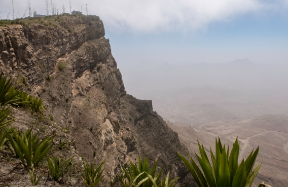 The summit of Monte Verde (Green Mountain) overlooking São Vicente, Cape Verde (Cabo Verde)