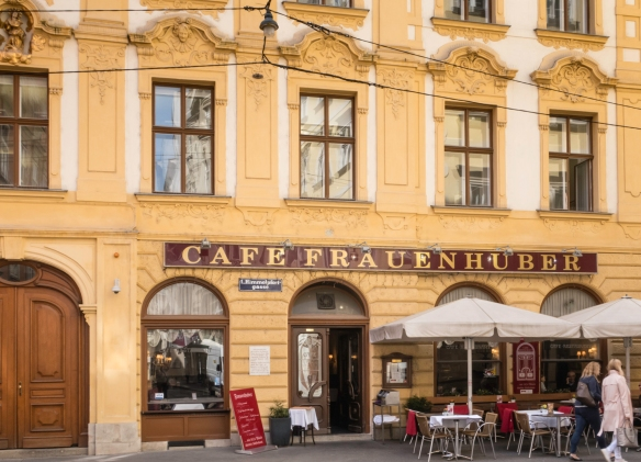 A typical Viennese café in the old quarter of Vienna, Austria
