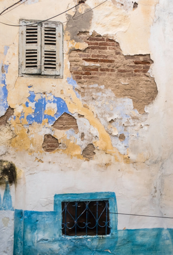 A weather-beaten wall, Tangier, Morocco