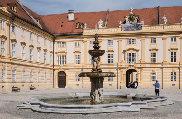 An inner courtyard (Prelate_s Courtyard) of Melk Abbey, Melk, Austria