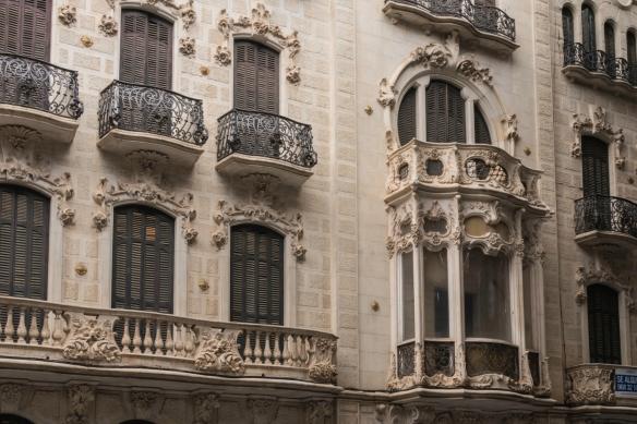 Art Nouveau townhouses on Calle Mayor, Cartagena, Spain