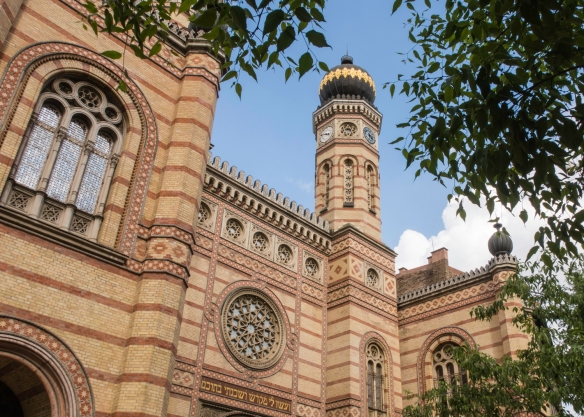 Budapest's stunning Dohány Street Synagogue (also known as the Great Synagogue), built in 1859 with both Romantic and Moorish architectural elements, is the largest Jewish house of wor