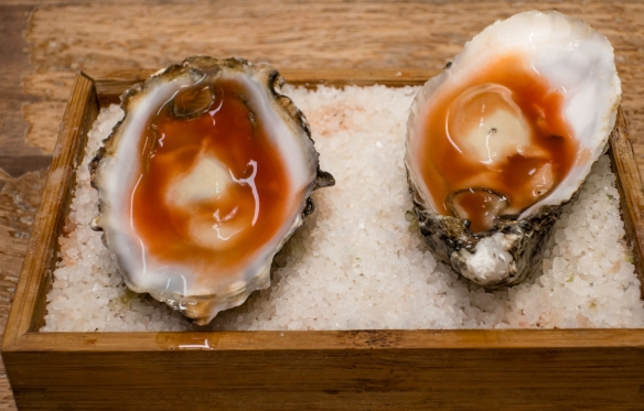 """Course #2 """"Oysters Bloody Mary"""", José Carlos Garcia Restaurante, Málaga, Spain"""