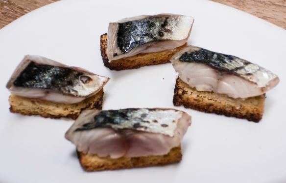"""Course #8 """"Espeto Mackerel"""", José Carlos Garcia Restaurante, Málaga, Spain"""