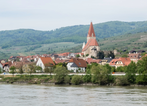 Each small town along the Danube had a church that dominated the skyline, Wachau wine-growing region, Austria