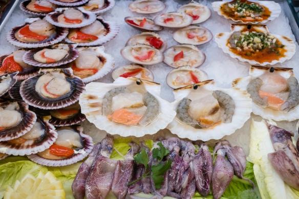 Fresh local seafood, Mercado Atarazanas, Málaga, Spain