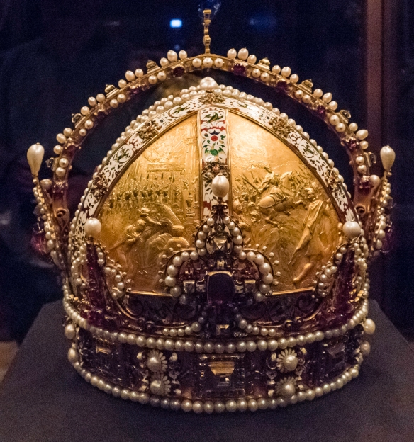 Kaiserliche Schatzkammer Wien (The Imperial Treasury) at the Hofburg Palace in Vienna, Austria, contains a valuable collection of secular and ecclesiastical treasures covering over a tho