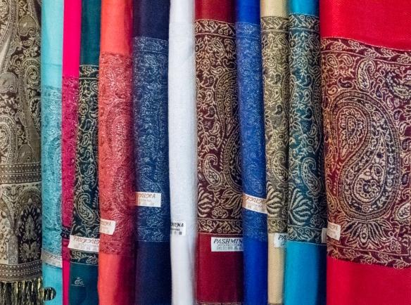 Locally made pashminas, Marrakech, Morocco