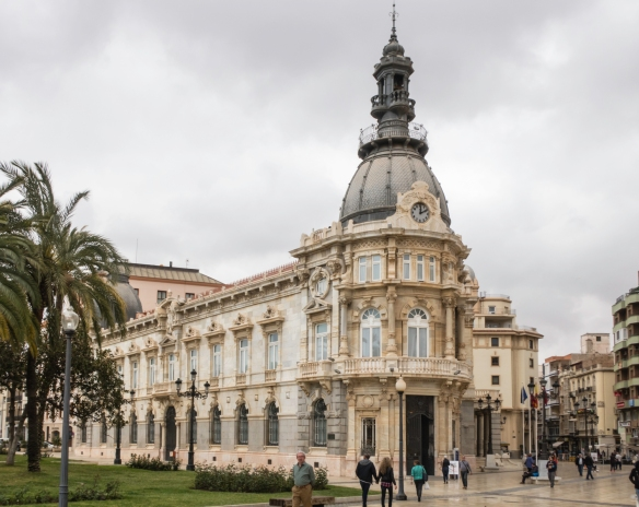 Near the Port of Cartagena is the Art Nouveau city hall building that contains a museum open to the public, Cartagena, Spain