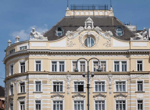One of the grand residential buildings on the late-19th-century Ringstraße, Vienna, Austria