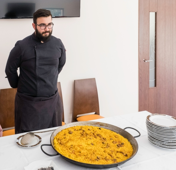 Our last savory course at the luncheon was this delicious paella cooked in a rather large pan for our small group, Juan Gil Bodegas Familiares (Gil Family Estates), Jumilla, Spain