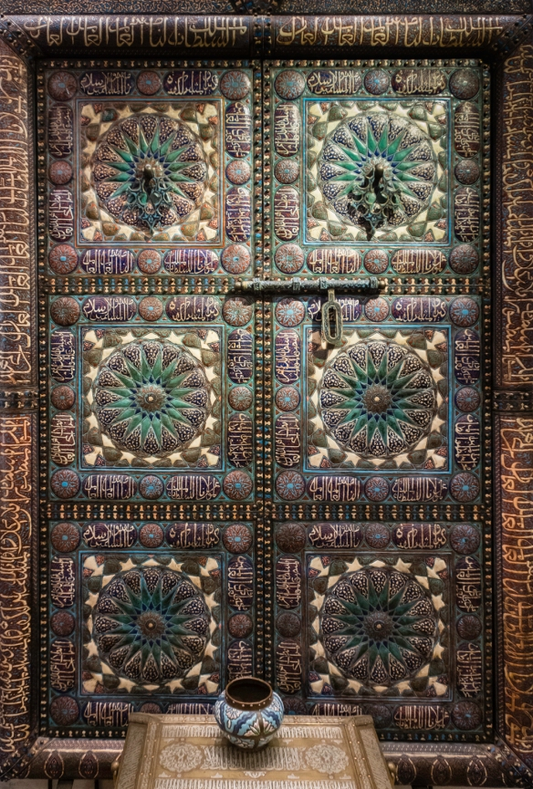 Portals in Marrakech, Morocco, #7, on display at (and courtesy of) Khalid Fine Arts Gallery, Marrakech)