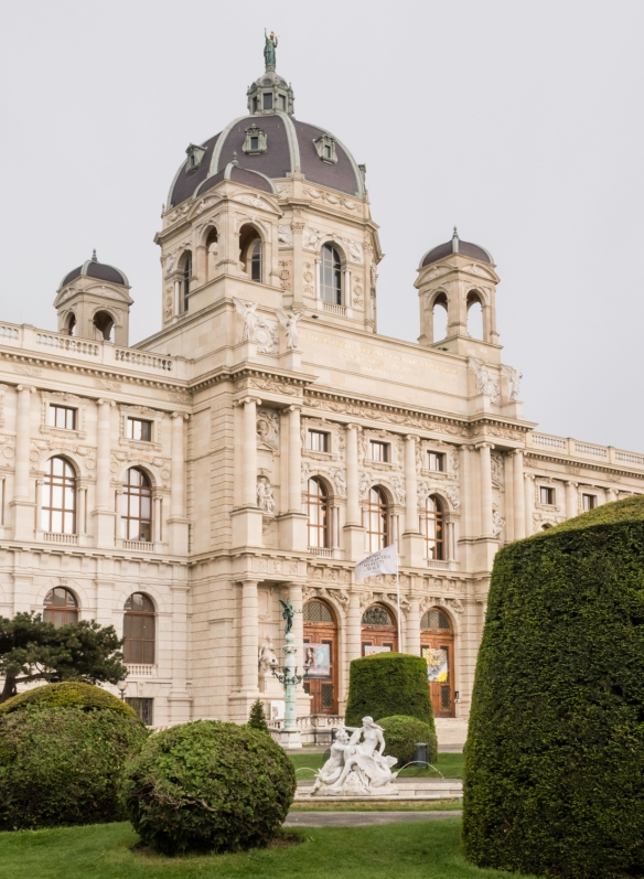 The 19th century Museum of Natural History, located on Maria-Theresien Platz (Plaza) is across from the Kunsthistoriches Museum (the Fine Arts Museum), Vienna, Austria