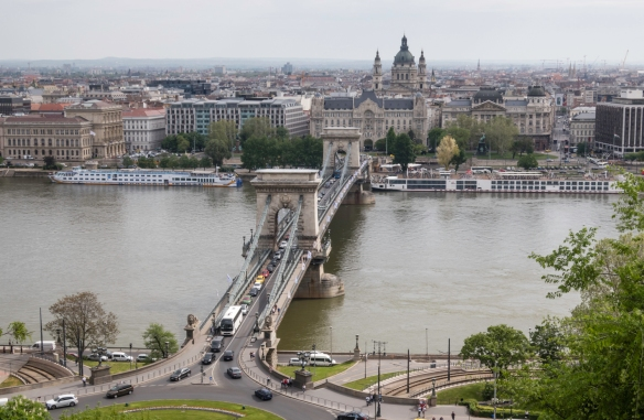 The Chain Bridge (completed in 1849) is the oldest, arguably most beautiful and certainly the most photographed of Budapest's bridges and floodlit at night; it was the first permanent br