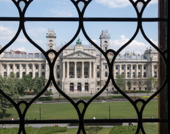 The Hungarian Museum of Ethnography with huge collections about life in Hungary and the east of Europe in the 19th and 20th centuries, as seen from the windows of the Hungarian National