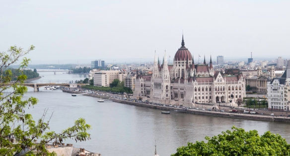 The Hungarian National Parliament building, the largest in Europe, was designed by architect Imre Steindl for the 1896 millennial celebrations and built 1880-1902, Budapest, Hungary
