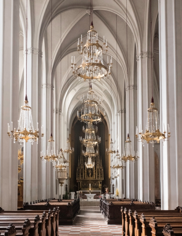 The interior of the Augustinerkirche (Augustina Catholic Church) which was part of the Hofburg Imperial Palace, Vienna, Austria