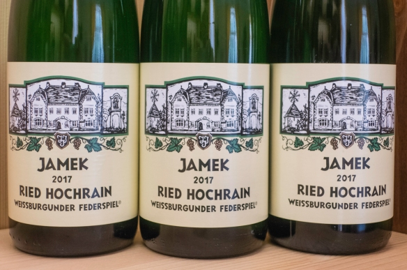 The Jamek Estate Winery labels feature the estate house, Joching, Austria