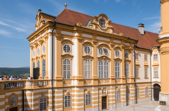 The library (no photography was permitted inside), Melk Abbey, Melk, Austria