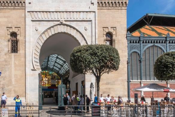The Mercado Atarazanas building, designed by the architect Joaquin de Rucoba, was constructed in the 1870s; Málaga, Spain