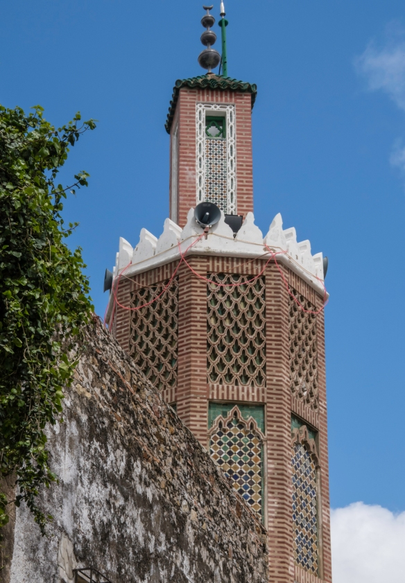 The minaret of a mosque in the Ancien Medina (Old Medina), Tangier, Morocco