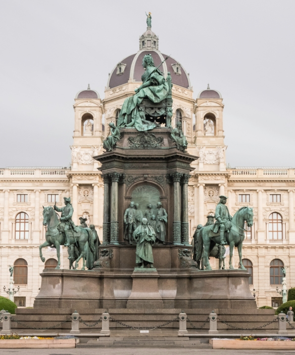 The monument to Maria Theresa Walburga Amalia Christina (1717 – 1780), the only female ruler of the Habsburg dominions and the last of the House of Habsburg, on Maria-Theresien Platz (