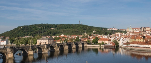 Prague, Czech Republic, a magical city of bridges, cathedrals, gold-tipped towers and church domes, has been mirrored in the surface of the swan-filled Vltava River for more than ten cen