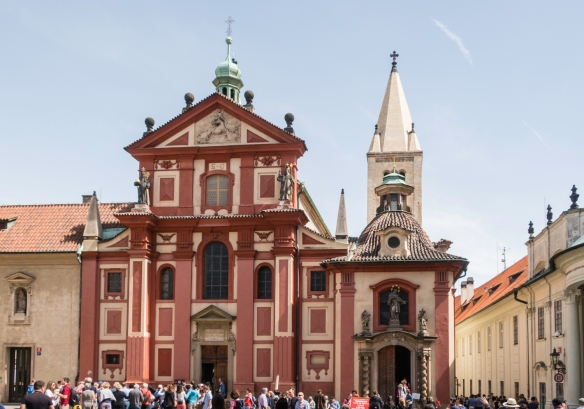 St. George_s Basilica – dedicated to Saint George -- is the oldest surviving church building within Prague Castle, Prague, Czech Republic, and was founded by Vratislaus I of Bohemia