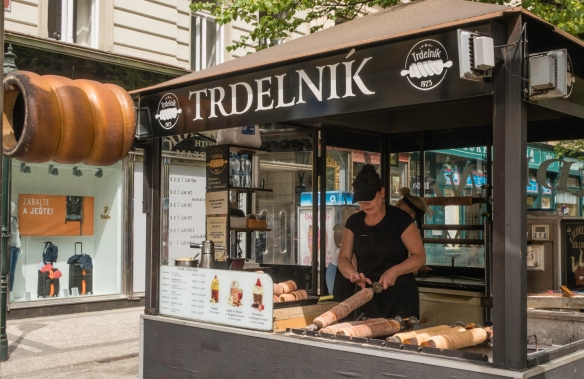 Trdelnik is one of the most common pastries to find on Prague_s streets; the pastry was originally known as kurtsoskalacs and hailed from Szekely Land, Transylvania — home of the Sze