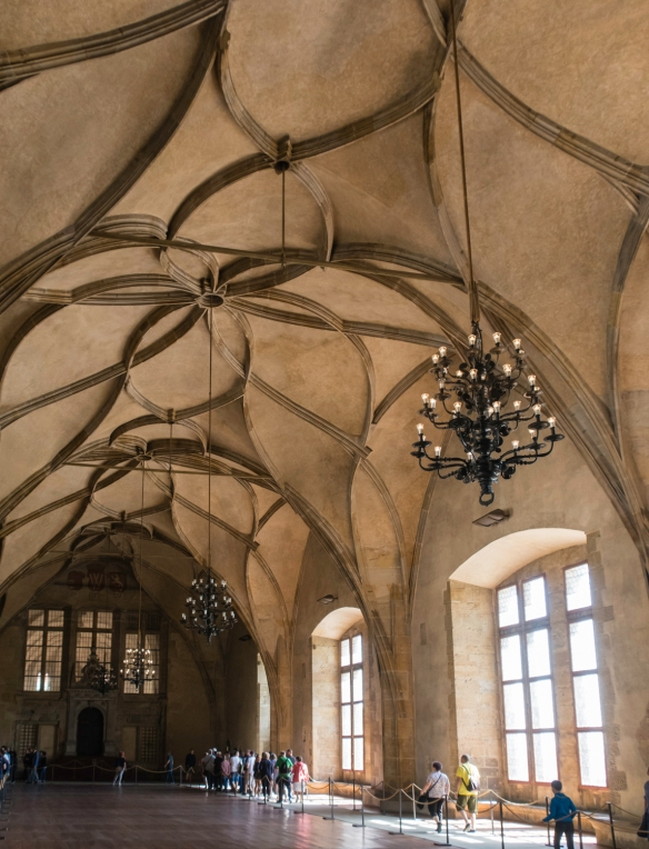 Vladislav Hall, a large room used for large public events of the Bohemian monarchy and the modern Czech state, was built between 1493–1502 during the reign of Vladislav II and was the
